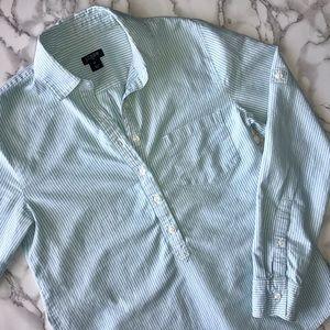 J. Crew Stripe Oxford Popover Shirt